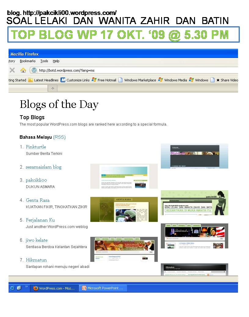 top blog wp 17okt 09 @5.30pm