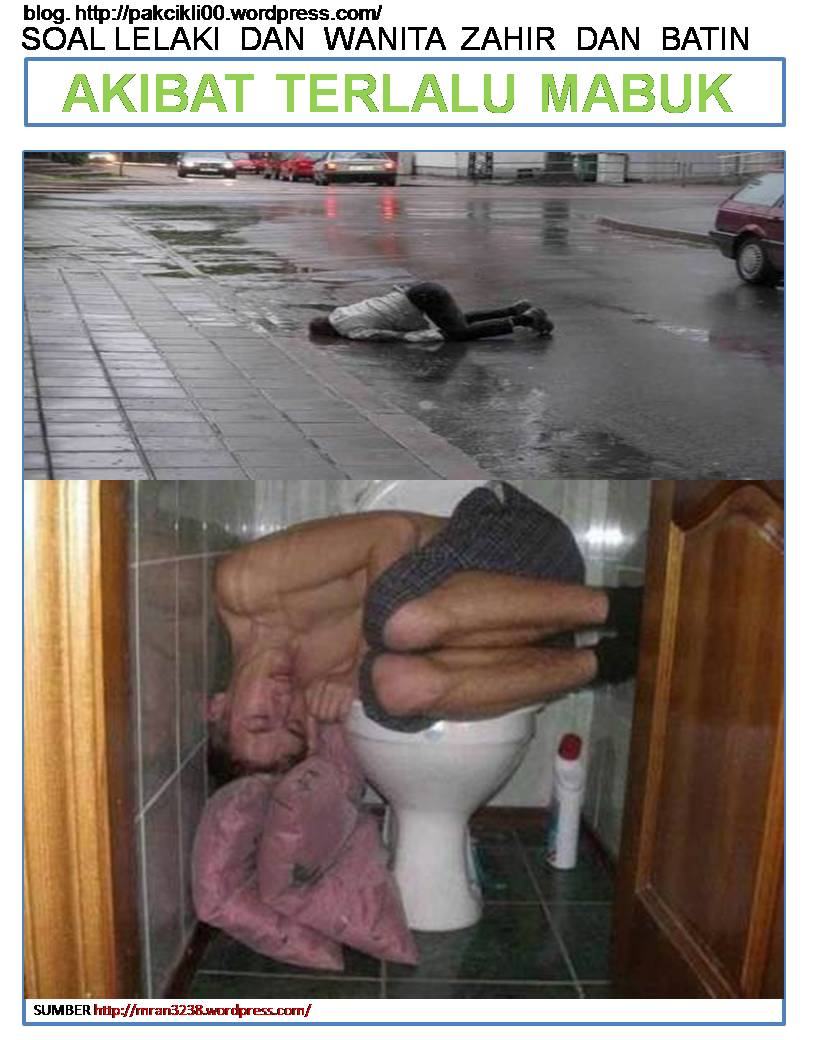 akibat terlalu mabuk