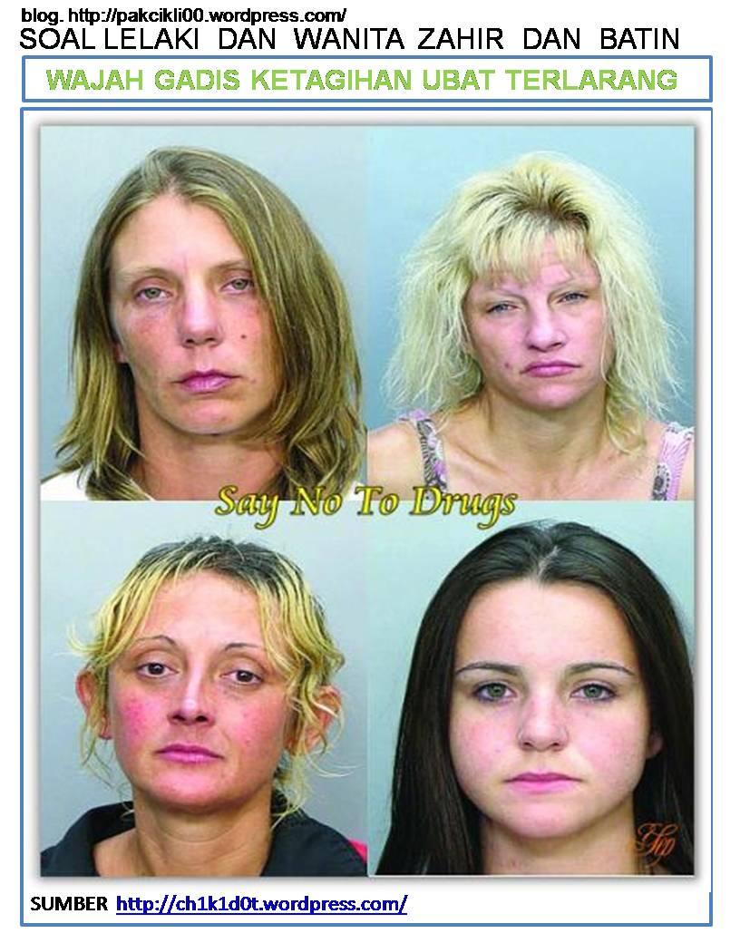 wajah gadis ketagihan ubat terlarang