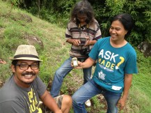 Dek with Ketut one of the Bali Regreen community organizers and Supardi from Kompos Pedang Tegal.