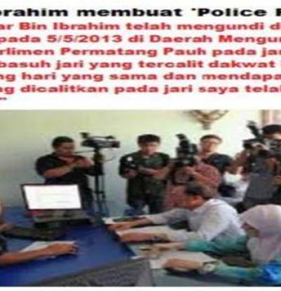 Mengapa Anwar tidak membuat laporam polis pada 5 petang 5/5/2013? Anwar tidak basuh jari ketika solat Zohor?