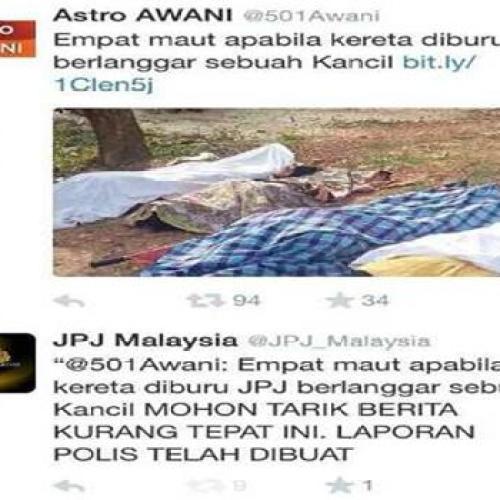 JPJ Nafi Laporan Berita Tidak Tepat Kemalangan Maut (2)