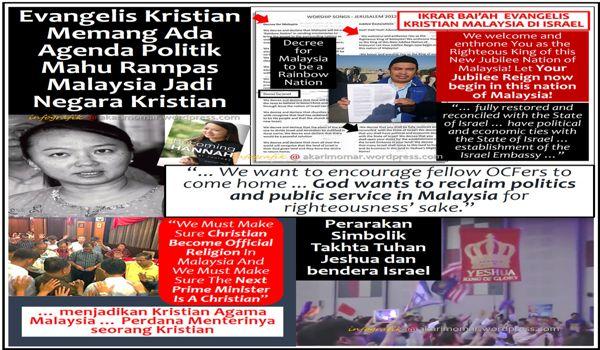 Jangan tolak kemungkinan Malaysia boleh jadi negara kristian. Sejarah membuktikan demikian