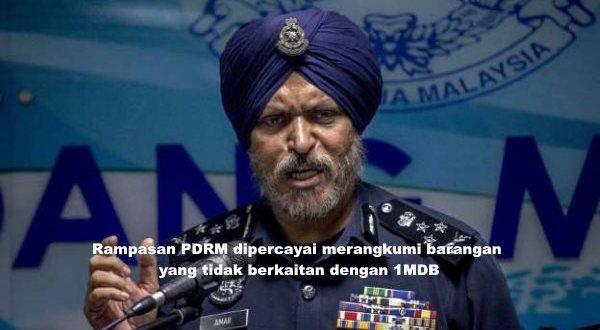Rampasan PDRM dipercayai merangkumi barangan yang tidak berkaitan dengan 1MDB