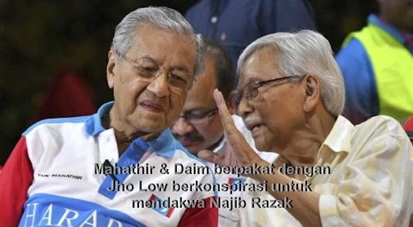 Mahathir Kata berita dari Sarawak Report mengenai penahanan Jho Low palsu - Daim pula adakan mesyuarat sulit bersama Jho Low di China melakukan konspirasi terhadap Najib