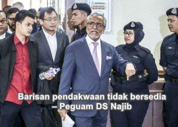Barisan pendakwaan tidak bersedia – Peguam DS Najib