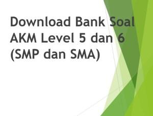 Download Bank Soal AKM Level 5 dan 6 (SMP dan SMA)