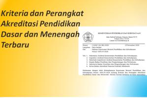 Kriteria dan Perangkat Akreditasi Pendidikan Dasar dan Menengah Terbaru