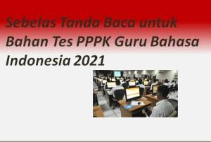 Sebelas Tanda Baca untuk Bahan Tes PPPK Guru Bahasa Indonesia 2021
