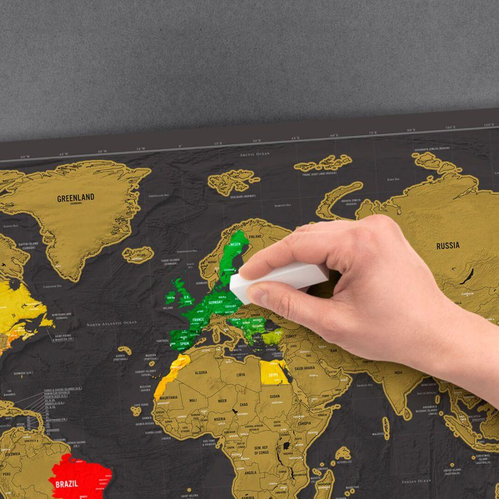 Skrapkarta världen original deluxe Scratch map original deluxe skrapa fram platser du varit på