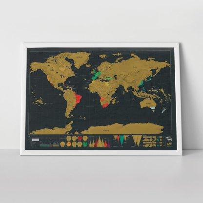 Skrapkarta världen original deluxe Scratch map original deluxe perfekt för den som älskar att resa