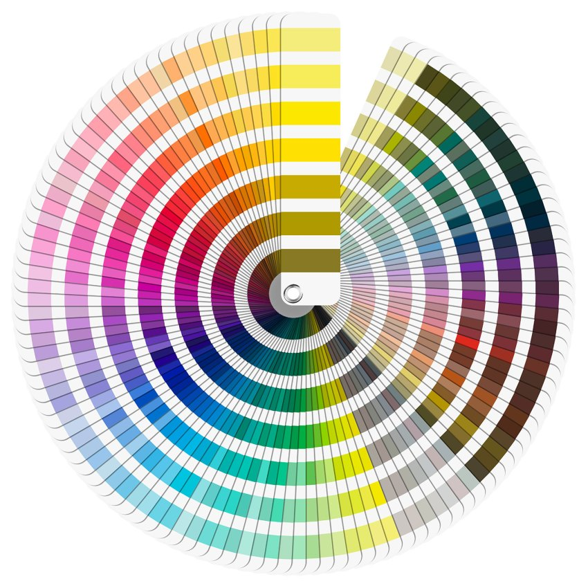 The Pantone solid colors palette for custom packaging.
