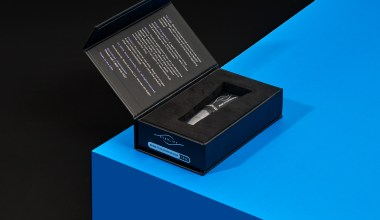 custom packaging with product in insert protecting product