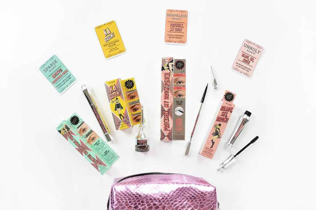 Example of Benefit cosmetics packaging