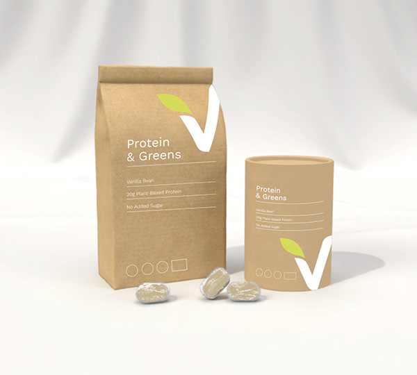 Example of biodegradable packaging