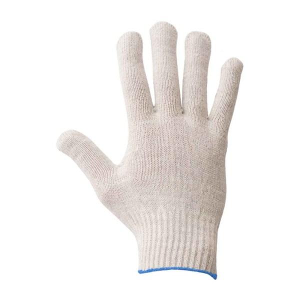 Перчатки вязаные белые без ПВХ 3 нити