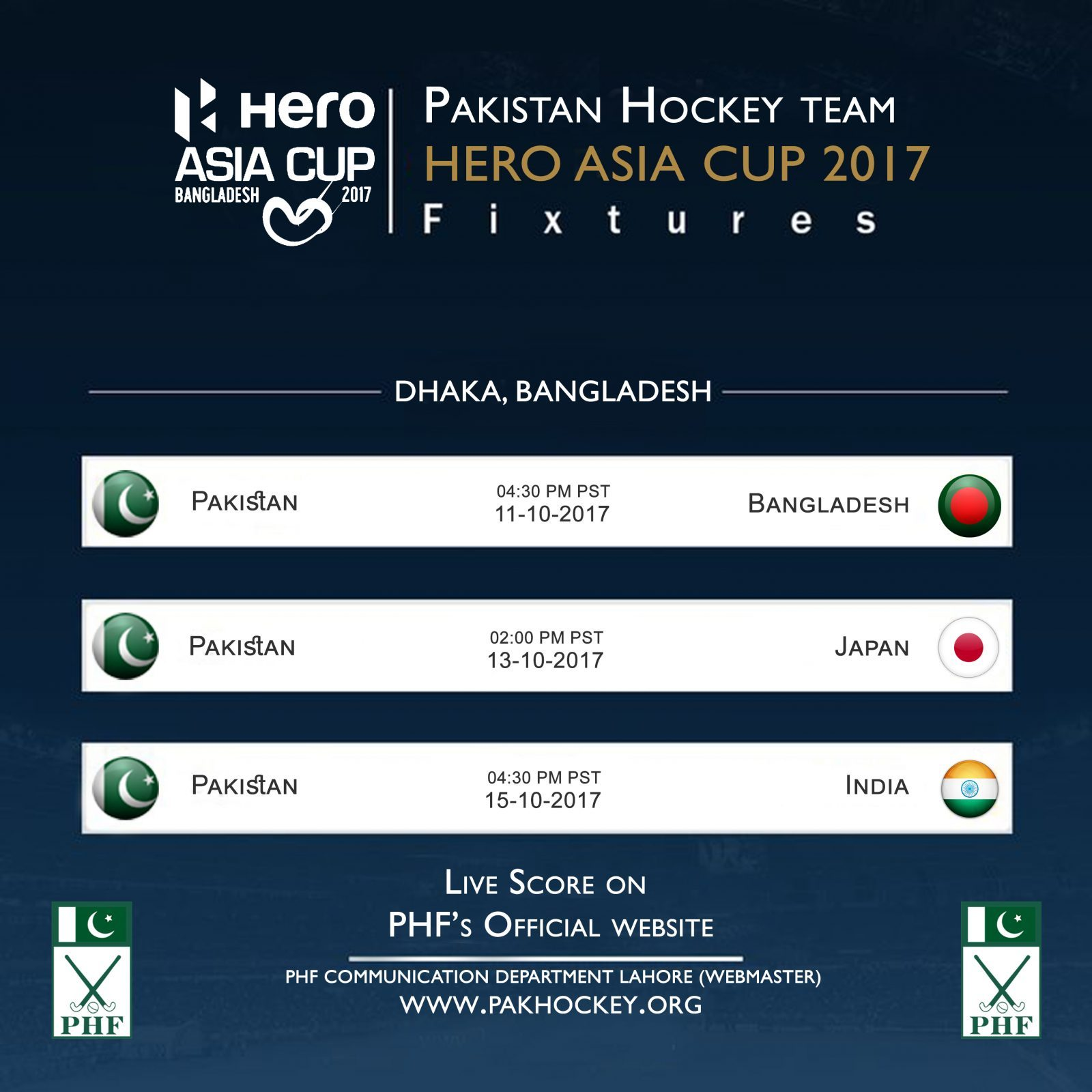 Hero Asia cup 2017 Hockey Bangladesh