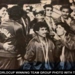 1982 Worldcup winning Team group photo with Trophy