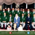 Team Group Picture 1994 World Cup Champion Team (Gold) with benzeer bhottu and Asif Ali Zardari
