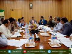 Pakistan Hockey Federation (PHF) Executive Board meeting was held at PMDC Office Islamabad on 29th March 2018.