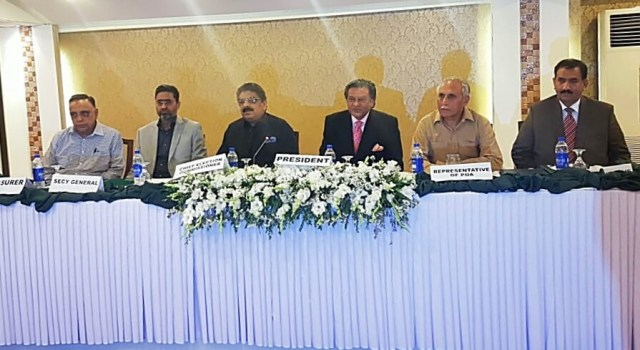 Brig (R) Khalid Sajjad Khokhar, Olympian Shahbaz Senior and Ikhlaq Usmani were elected unopposed president, secretary and treasurer of Pakistan Hockey Federation (PHF) in the elections conducted here at a local hotel on Tuesday.