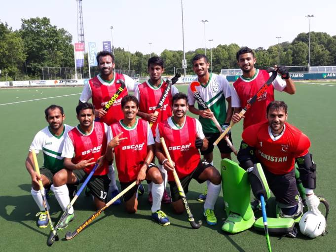 Pakistan Hockey Team Match Against Holland