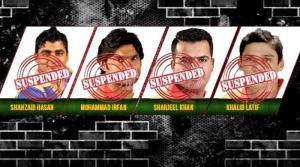 Shahzaib Hasan suspended fourth player PSL34