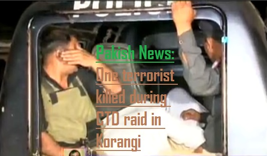 CTD raid in Korangi, one terrorist killed