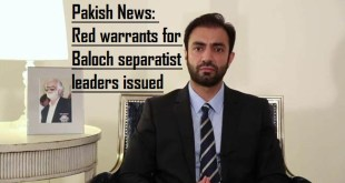 Red warrants of Brahumdagh Bugti issued