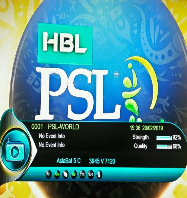 PSL 2019 HD Channels Free