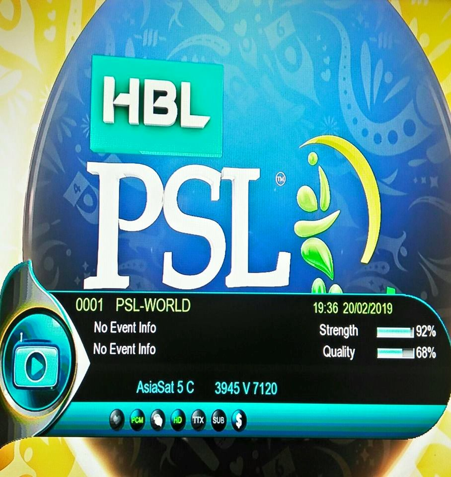 Here are the free Channels Broadcasting PSL 2019 in HD  [ Satellite
