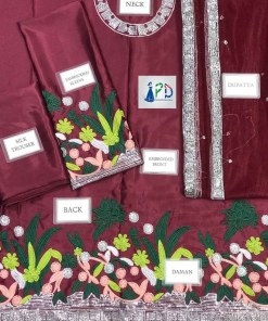 Sana Javed Latest Silk suit online