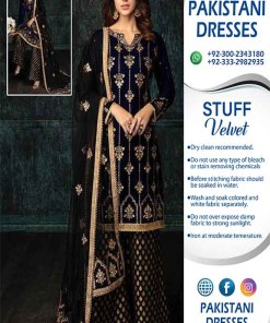 Pakistani Velvet Dresses 2020