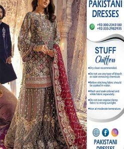 Emaan Adeel Bridal Chiffon Dresses
