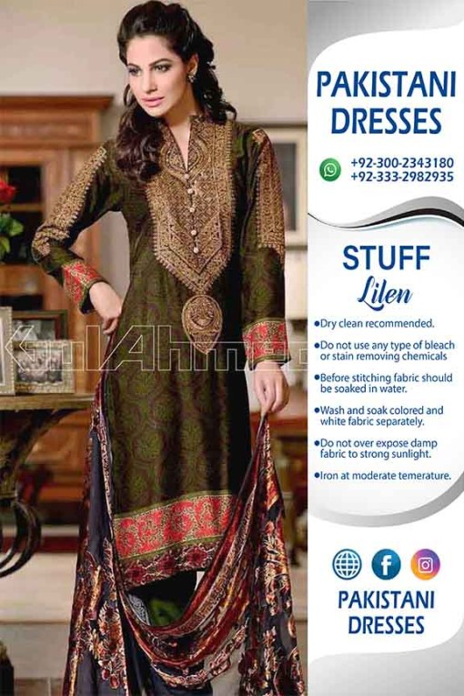 Gul Ahmed latest Linen Collection