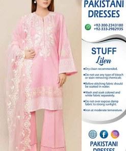 Maria B Latest Linen Dresses