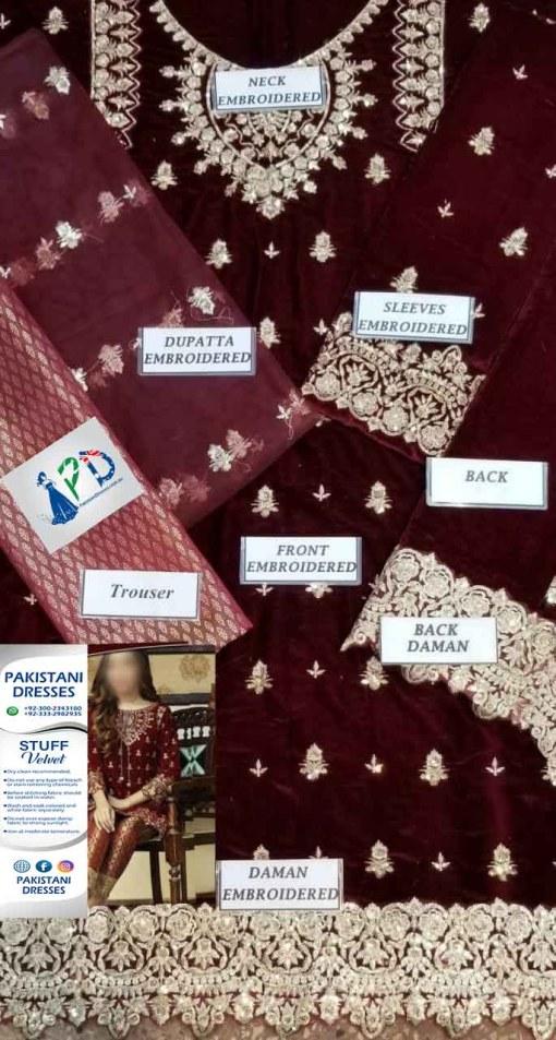 Pakistani Velvet Dresses Australia Online