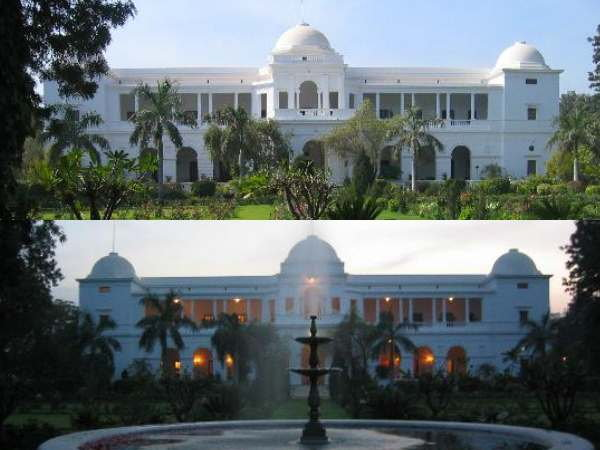 The front look of Pataudi Palace