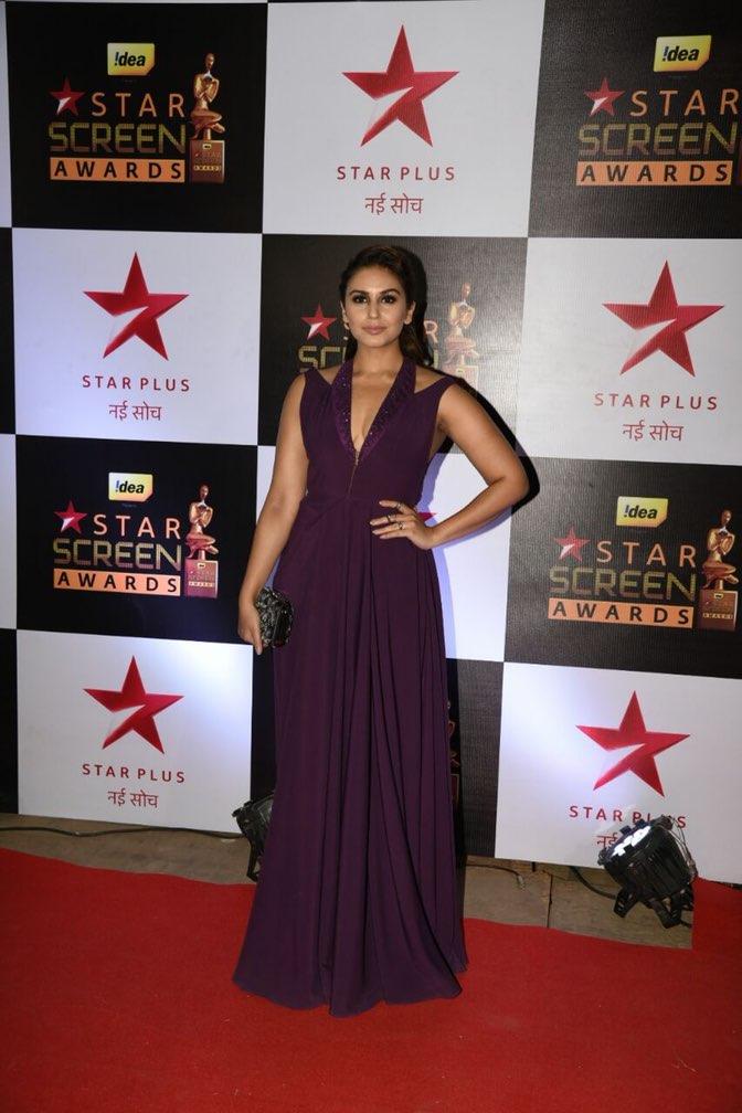 Huma Qureshi at star screen awards