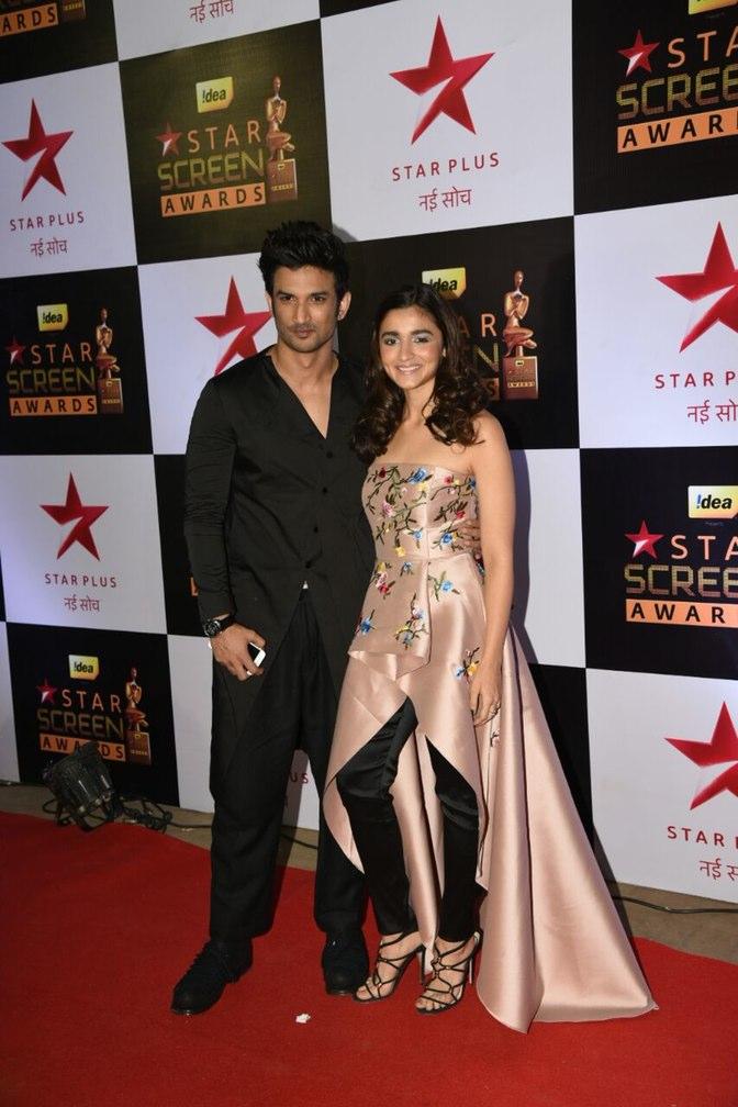 Sushant catching up to Alia Bhatt at star screen awards