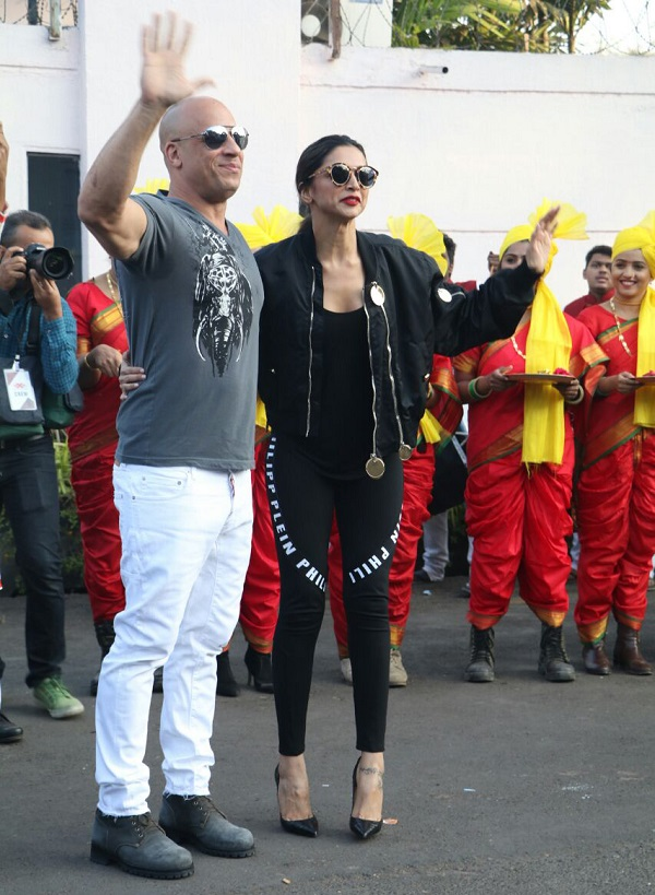 Vin Diesel and Deepika Padukone Lands In India For XXX Promotions-1