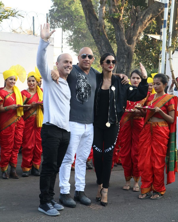 Vin Diesel and Deepika Padukone Lands In India For XXX Promotions-2