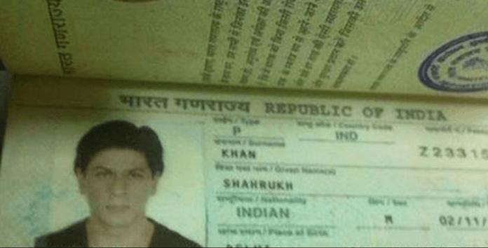 Shahrukh Khan Passport photo
