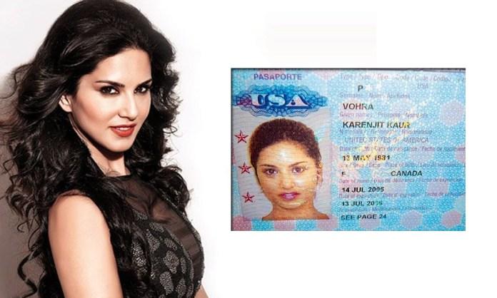 Sunny-Leone-passport-photo