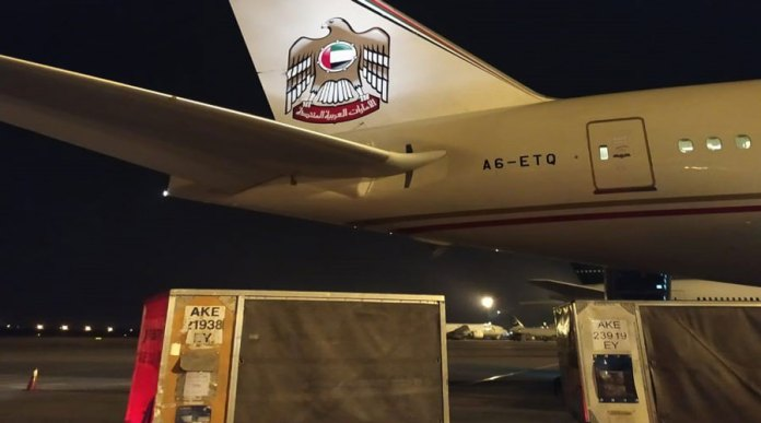 UAE sends the third batch of aid to Pakistan to combat COVID-19