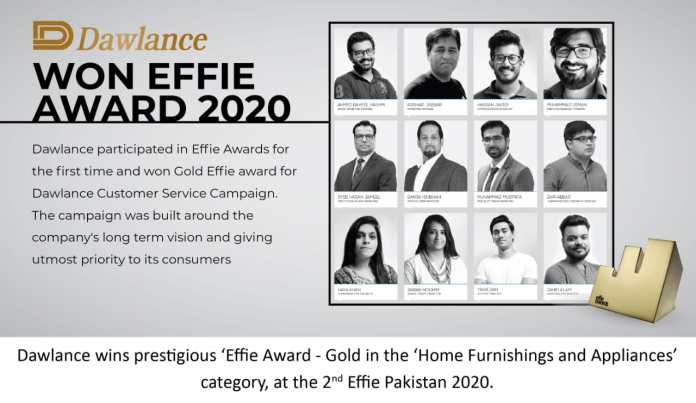 """Dawlance wins Gold Effie Award for its """"Customer Service Campaign"""""""