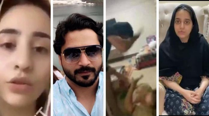 zoobia meer viral video: brother beats his mother and sister for property and cash