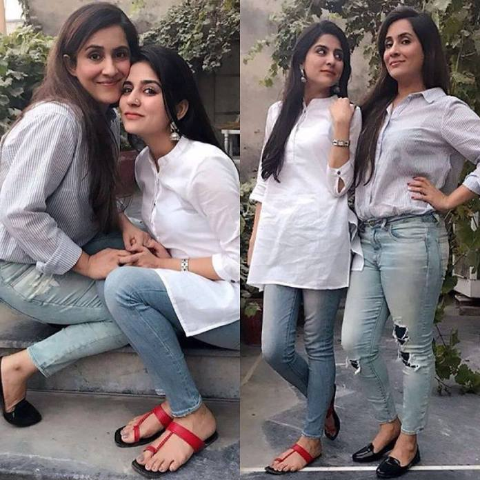sanam baloch and sabreen hisbani sisters goals