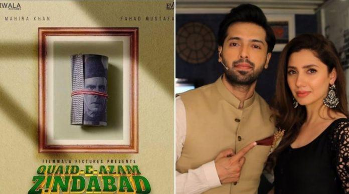 Fahad Mustafa, Mahira Khan revealed posters of movie 'Quaid-e-Azam Zindabad'