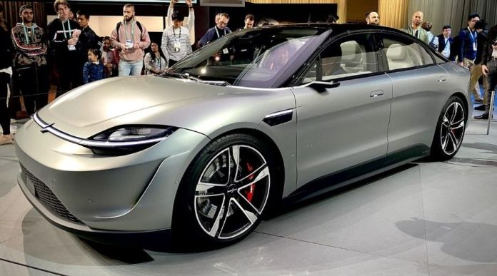 Sony Vision-S Cocept Electric Car front